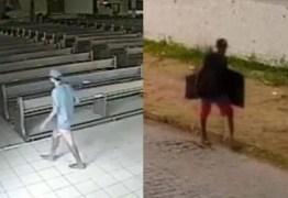 Homem invade igreja no Bessa e rouba TVs; VEJA VÍDEO