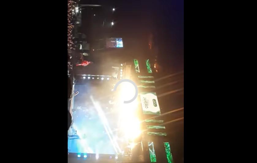 Capturar 51 - Palco de Gusttavo Lima pega fogo durante show e assusta fãs - VEJA VÍDEO