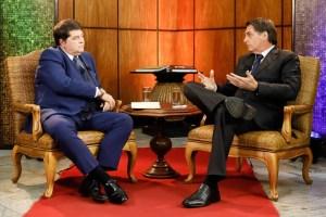 Datena e Bolsonaro 300x200 - Chefe da Secom recebe dinheiro de emissoras e agências contratadas pelo governo Bolsonaro