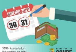 Servidores e servidoras da Prefeitura de Conde recebem o pagamento de janeiro nos dias 30 e 31