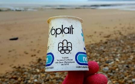 blog yoplait - Iogurte da Olimpíada de 1976, no Canadá, aparece em praia na Espanha