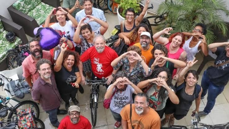 images 12 - PEDALANDO POR LULA: Petistas da Paraíba e Pernambuco pedalam em João Pessoa em apoio a Lula
