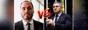 "julian lemos x carlos bolsonaro 300x103 - ""CADELA NO CIO"": Julian Lemos volta a discutir com Carlos Bolsonaro no Twitter - OUÇA"