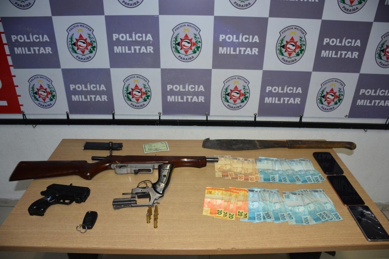 operacao 2 - Suspeitos de assalto e sequestro são presos durante operação da Polícia Militar, na Paraíba