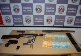 Suspeitos de assalto e sequestro são presos durante operação da Polícia Militar, na Paraíba