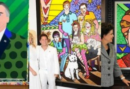 HALL DA FAMA: Jair Bolsonaro está entre Dilma e Dória como um dos políticos pintados por Romero Britto – RELEMBRE