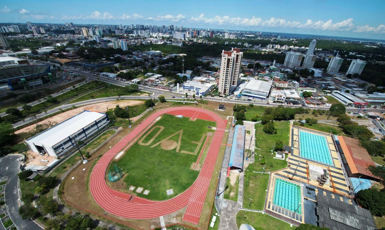 vista aerea da vila olimpica de manaus. divulgacao secom 1 - Governador lança Programa de Incentivo ao Esporte Paraibano nesta segunda