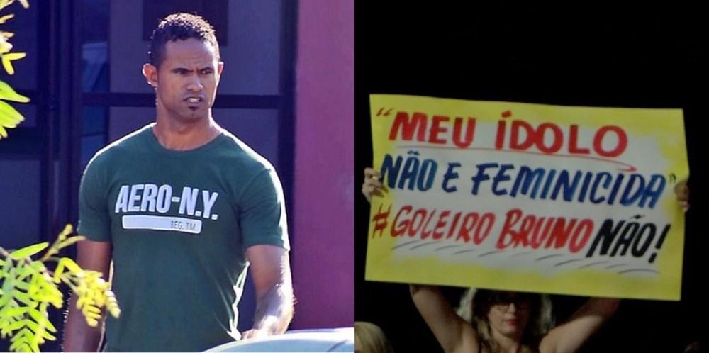 whatsapp image 2020 01 22 at 09.54.49 - Mulheres protestam em frente a estádio contra a contratação do goleiro Bruno por time de MT