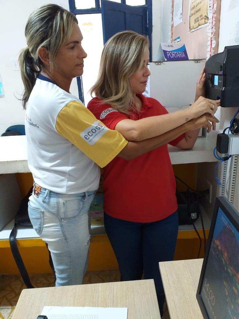 Biometria Ecos - Ecos implanta ponto biométrico nas escolas e reduz falta e abandono de postos de trabalho
