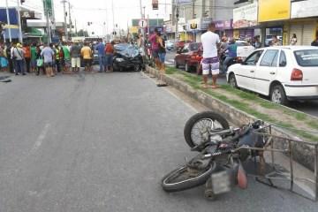 acidente cruz das armas - Motociclista morre após colidir com carro no bairro de Cruz das Armas, em João Pessoa