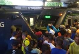 VEJA VÍDEO: Colisão entre dois trens do Metrô do Recife deixa dezenas de feridos