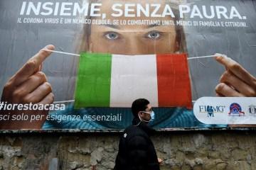 25630110 - Após um mês e 4 mil mortes, Milão reconhece erro de campanha contra isolamento - VEJA VÍDEO