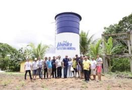 Renato Mendes faz entrega de novo reservatório e amplia acesso à água para famílias de sítio, em Alhandra