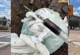 Seringas, agulhas e sangue são achados em lixão na região de Sousa; MP manda apurar e Prefeitura se defende – VEJA VÍDEO