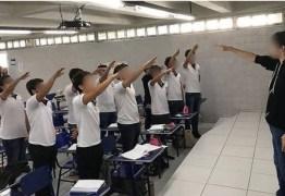 Alunos de escola particular fazem saudação nazista em sala e postam imagem em rede social