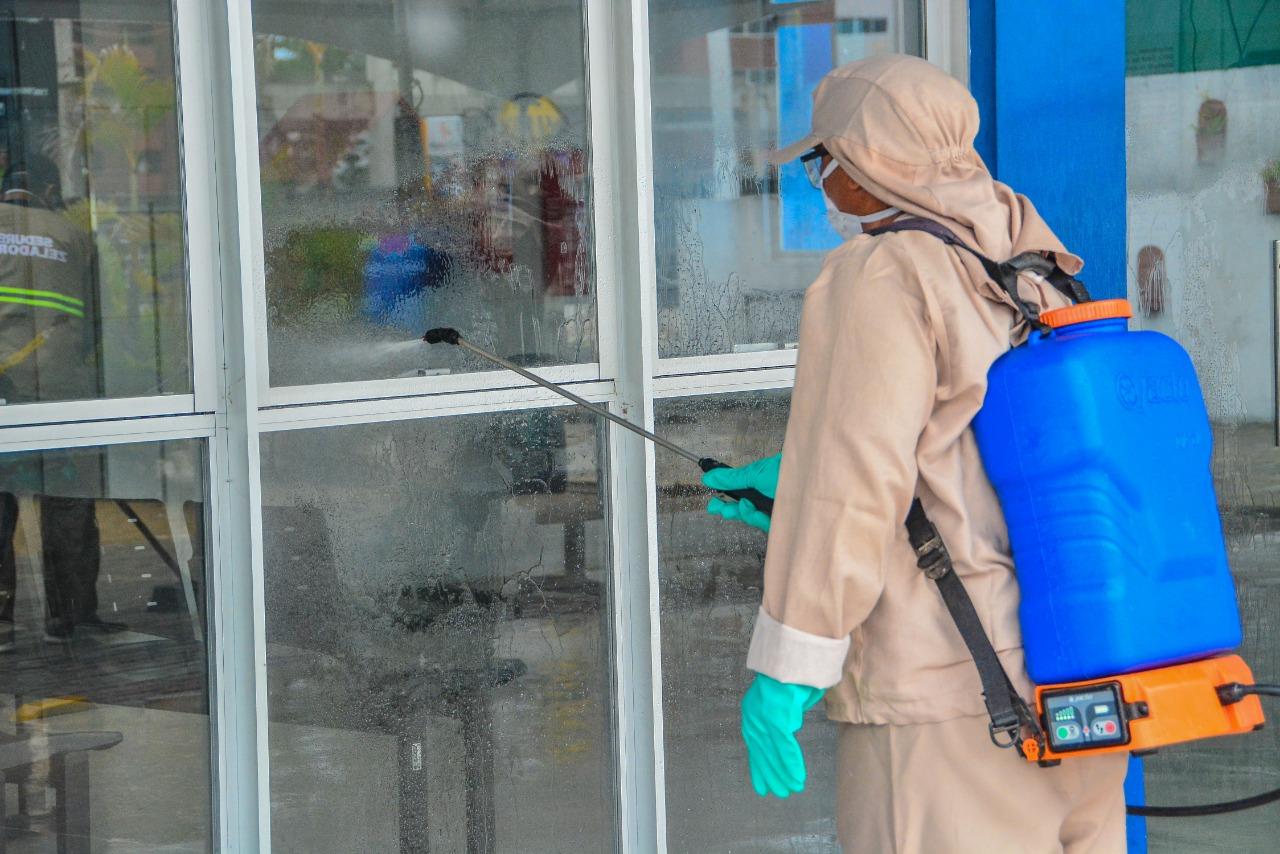 WhatsApp Image 2020 03 29 at 16.21.50 - Prefeitura higieniza UPAs e mercados públicos nesta segunda-feira no combate ao coronavírus
