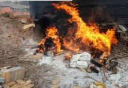 Polícia Civil incinera mais de meia tonelada de drogas ilícitas em Campina Grande
