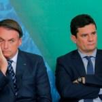jair bolsonaro e moro - ARENGA: Bolsonaro diz que Moro é egoísta e não ajuda governo em crise do coronavírus