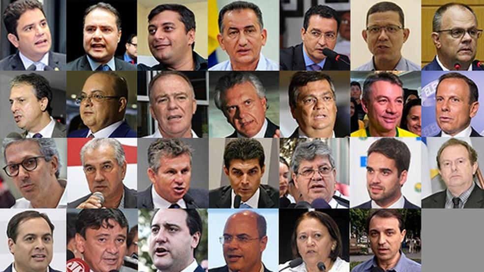 posse governadores - A REPÚBLICA DOS GOVERNADORES: Reunião com 27 gestores irá discutir enfrentamento ao coronavírus por não contar com presidente Bolsonaro