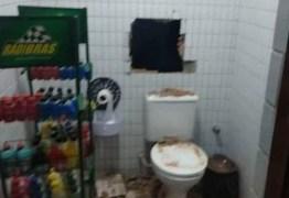 FLAGRA: Bandidos tentam roubar cofre de posto de gasolina mas são surpreendidos pela Polícia