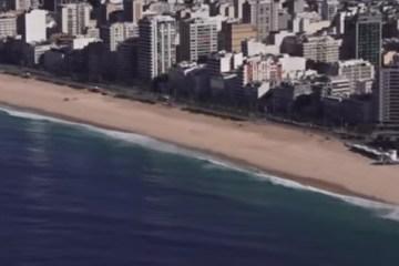 praias - Rio de Janeiro sem turistas: drone mostra ícones cariocas vazios - VEJA VÍDEO