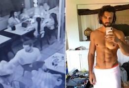 Modelo é demitido de duas agências após apalpar nádegas de garçonete em restaurante – VEJA VÍDEO