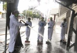 Brigada da Limpeza da Sesuma está atuando em ruas do Centro de Campina