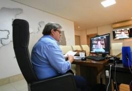 Azevêdo relata ações na Paraíba para enfrentamento ao coronavírus