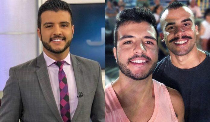 Matheus Ribeiro enamorado 696x406 1 - Após demissão da Globo, primeiro âncora gay do JN conta que foi 'forçado' a se assumir