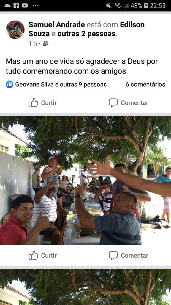 WhatsApp Image 2020 04 06 at 07.29.21 2 - Prefeito quebra a quarentena e comemora aniversário de secretário adjunto em grande aglomeração