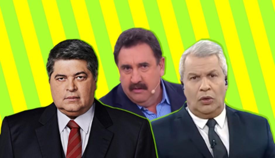 apresentadores - Bolsonaro conta com '3 mosqueteiros' para sua defesa na TV - CORAJOSOS OU BAJULADORES ?