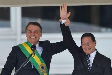 bolsonaro e hamilton mourao - Inquérito das fake news pode abrir caminho para cassação de Bolsonaro no TSE