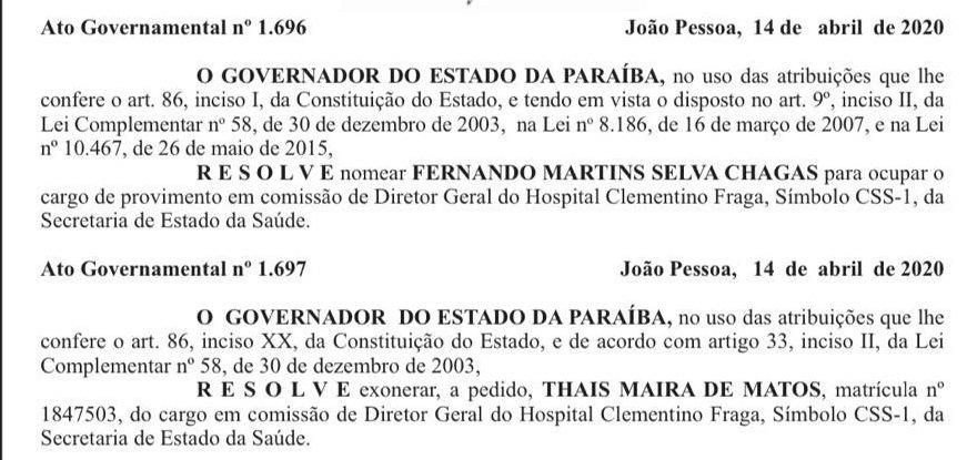 clementino1 - Governador muda direções dos Hospitais Clementino Fraga, Maternidade Frei Damião e do Centro de Reabilitação de Sousa