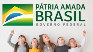 criancas brancas material secom 300x169 - Governo Federal usa imagem só com crianças brancas em material de novo programa