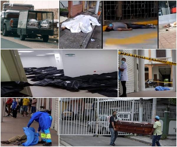 equador mortes coronavirus - COLAPSO FUNERÁRIO: Corpos de vítimas de coronavírus se acumulam nas ruas do Equador