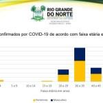 grafico corona - Coronavírus: 36 % dos casos confirmados da doença no Rio Grande do Norte são de jovens de 30 a 39 anos de idade
