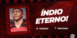 indio Flamengo 300x150 - Morre ex-jogador Índio, paraibano e ídolo do Flamengo na década de 1950