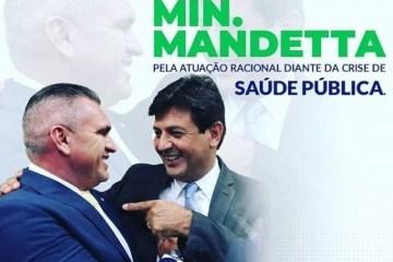 """julian e mandetta 597x375 1 - Julian Lemos reforça apoio ao trabalho de Mandetta e profetiza: """"Em tempos difíceis nascem líderes"""""""