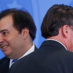 maia e bolsonaro - Bolsonaro nega possibilidade de colocar Maia como ministro