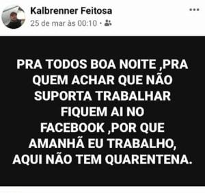 post quarentena 300x282 - Homem que era contra isolamento social morre com sintomas de COVID-19 em Manaus