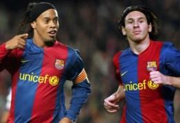 Messi se revolta após notícia de que teria pago a fiança de Ronaldinho