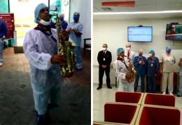 """Pastor toca sax em hospital de São Paulo e viraliza: """"Aqueceu o coração"""""""