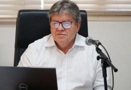 """João diz que não está preocupado com eleição este ano e muito menos com reeleição: """"Minha obrigação agora é salvar vidas"""""""