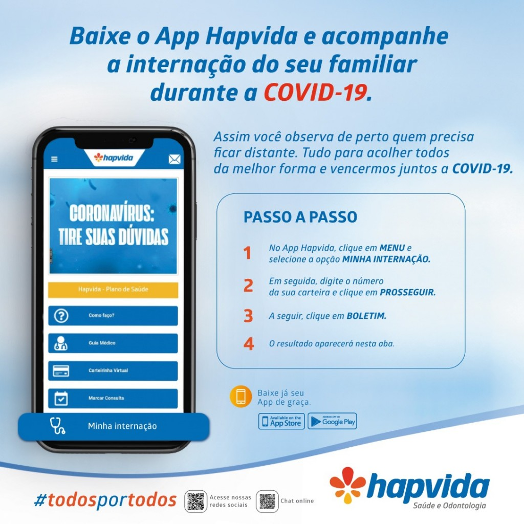 4099bdb3 478f 4752 bf98 bbae0d8c255f - Aplicativo do Hapvida permite acompanhar internação de pacientes com Covid-19