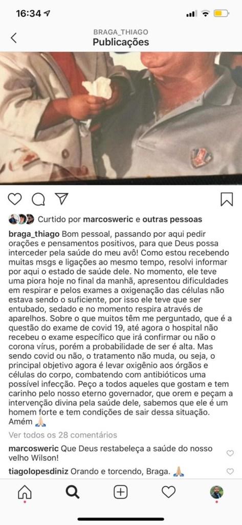 6a9ffe27 afcb 4f65 b8c1 f1223079990f 473x1024 - URGENTE: Quadro de saúde do ex-governador Wilson Braga piora