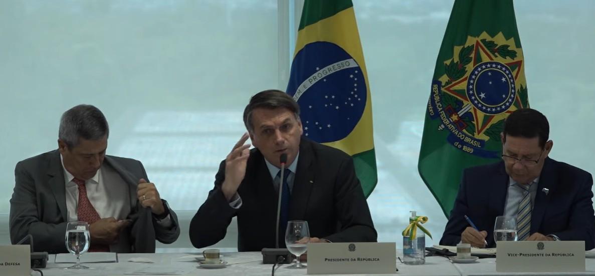 Capturar 87 - Bolsonaro defende intervenção militar em reunião ministerial: 'nós queremos o artigo 142' - VEJA VÍDEO