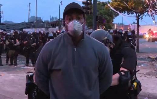 Capturark 7 - Repórter da CNN é preso ao vivo ao cobrir protestos em Minneapolis - VEJA VÍDEO