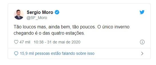 Capturarll - ''Tão loucos mas, ainda bem, tão poucos'', diz Sergio Moro sobre bolsonaristas