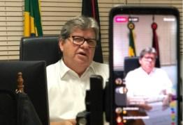 COVID-19: João Azevêdo nega 'lockdown', mas confirma restrição de circulação para veículos e pessoas