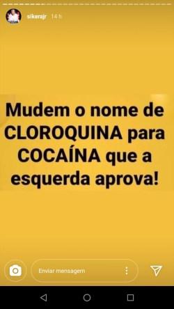 WhatsApp Image 2020 05 19 at 12.08.35 169x300 - Sikêra Jr sugere mudar o nome de cloroquina para cocaína para que a 'esquerda aprove'
